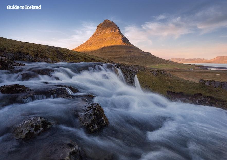Mount Kirkjufell on the Snaefellsnes Peninsula in Iceland's West.