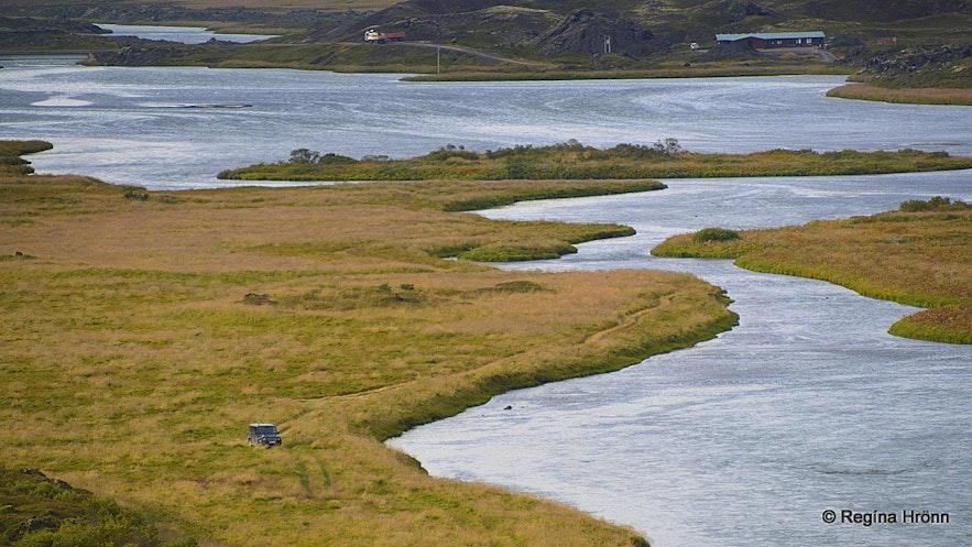 Laxá river in Laxárdalur valley N-Iceland
