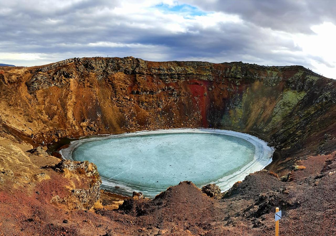 Den Gyldne Cirkel og Kerið vulkankrater | Sightseeingdagstur med lille gruppe