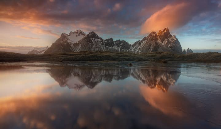 Mount Vestrahorn is located in the South East of Iceland