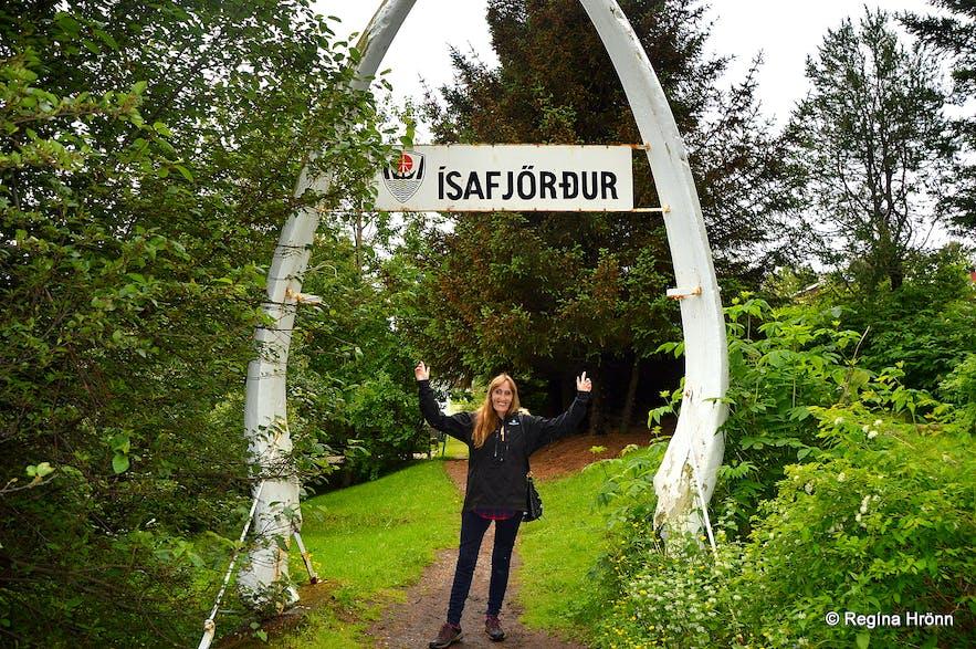 Jónsgarður park Ísafjörður Westfjords