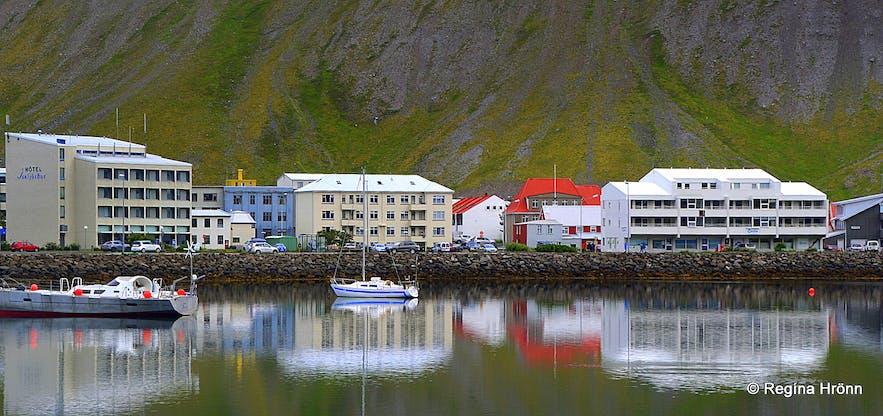 Ísafjörður town in the Westfjords of Iceland
