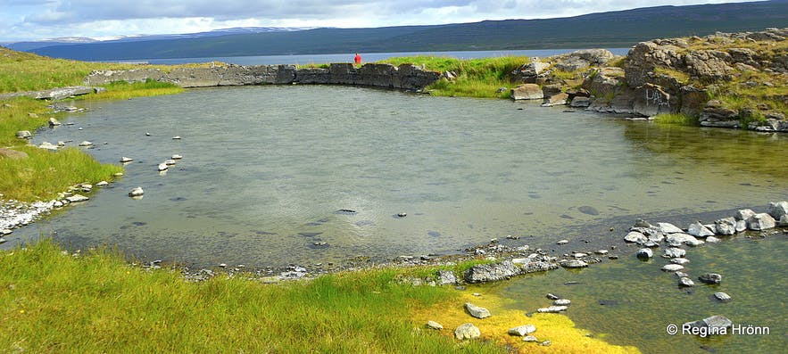 The old swimming pool by a geothermal area- Gamla laugin at Reykjanes Westfjords