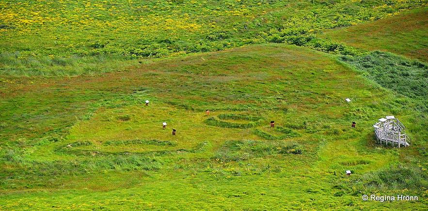 Overlooking the archaeological site in Vatnsfjörður
