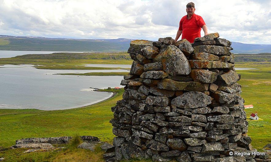 Grettisvarða cairn - Vatnsfjörður Westfjords of Iceland
