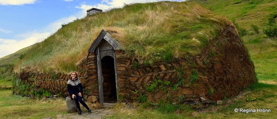 Eiríksstaðir Viking longhouse in West-Iceland