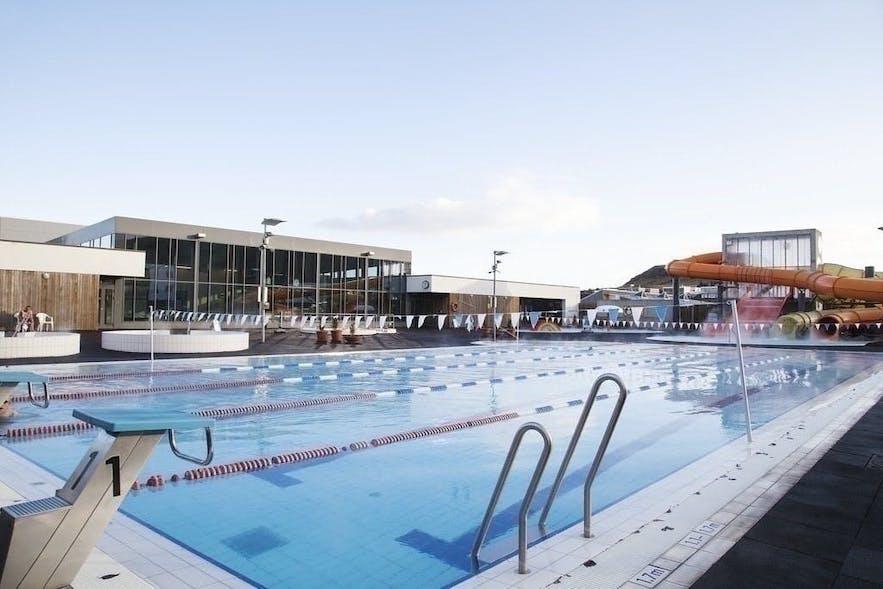 LaÌgafellslaug pool in Reykjavik, Iceland