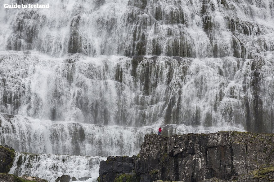 Dynjandi is a series of waterfalls in the Westfjords, marking them as one of the region's most popular attractions.