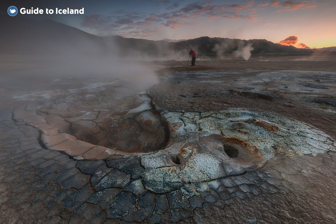 Some geothermal landscapes in the north east of Iceland.