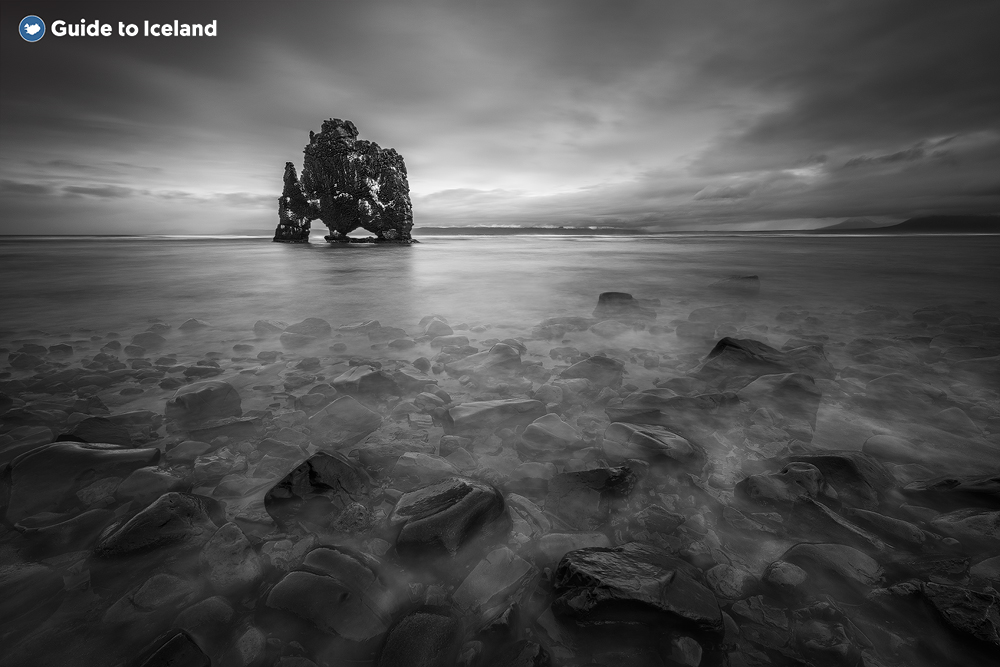 The Hvitserkur rock formation in the west of Iceland.