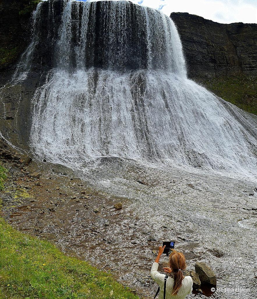 Hvítserkur waterfall in West-Iceland