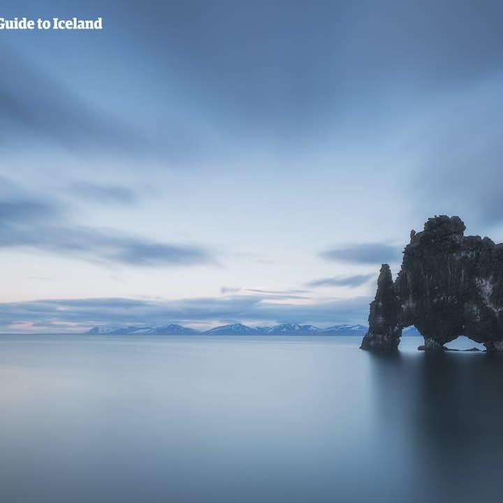 The Hvitserkur Rock Formation off the coast of Iceland.