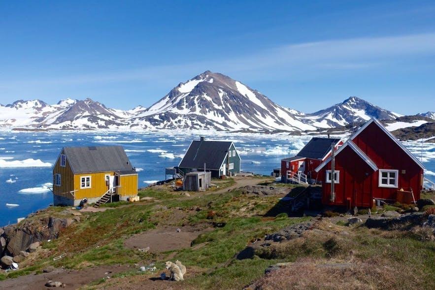 格陵兰Kulusuk小镇照片