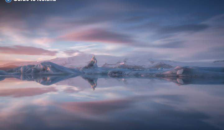The Jökulsárlón Glacier Lagoon in the South East of Iceland.