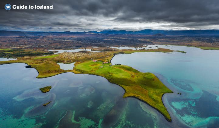 Lake myvatn is a vibrant location in the North of Iceland