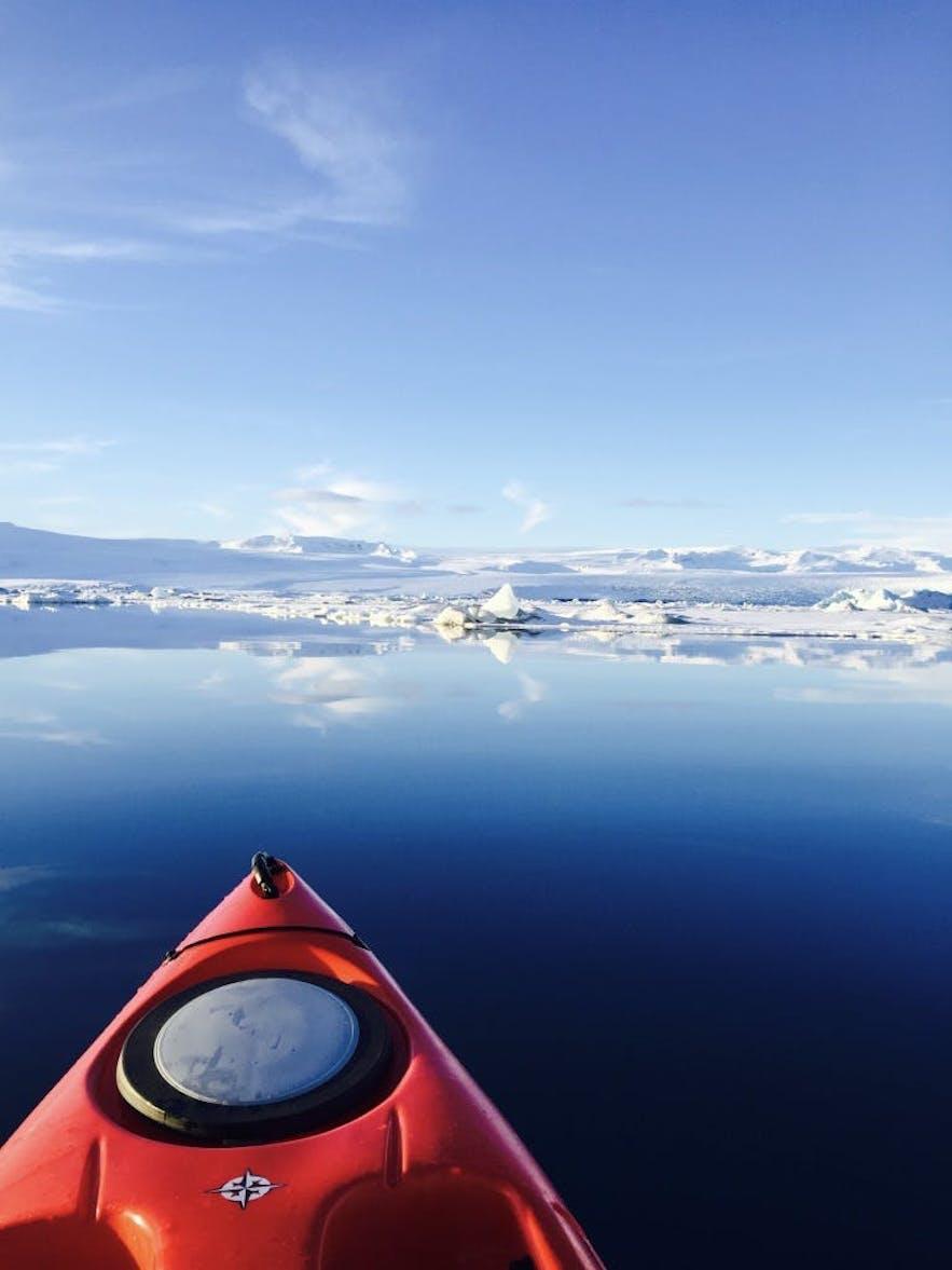 杰古沙龙冰河湖皮划艇体验团