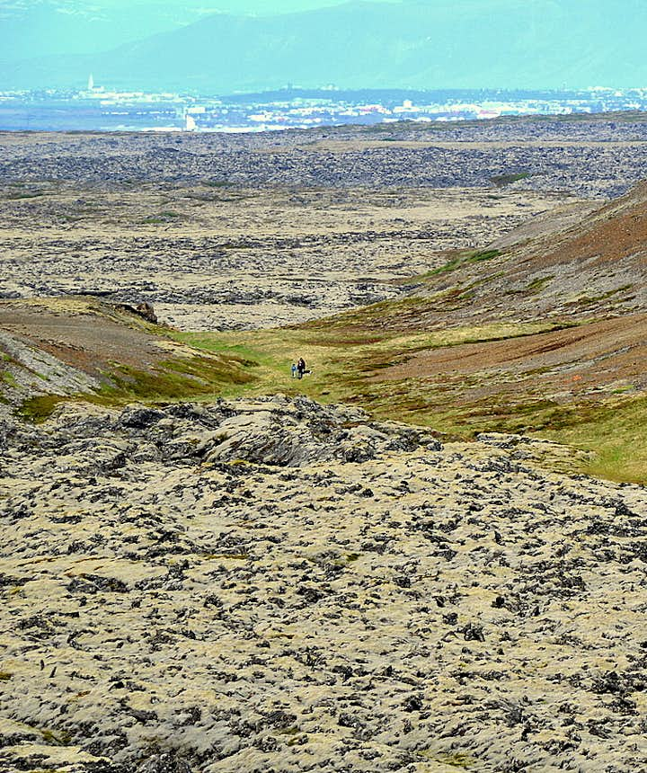 The view from the crater Eldborg of Mt. Lambafell