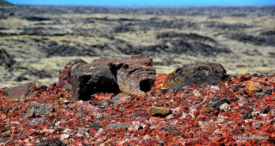 Eldborg scoria crater on Reykjanesskagi peninsula