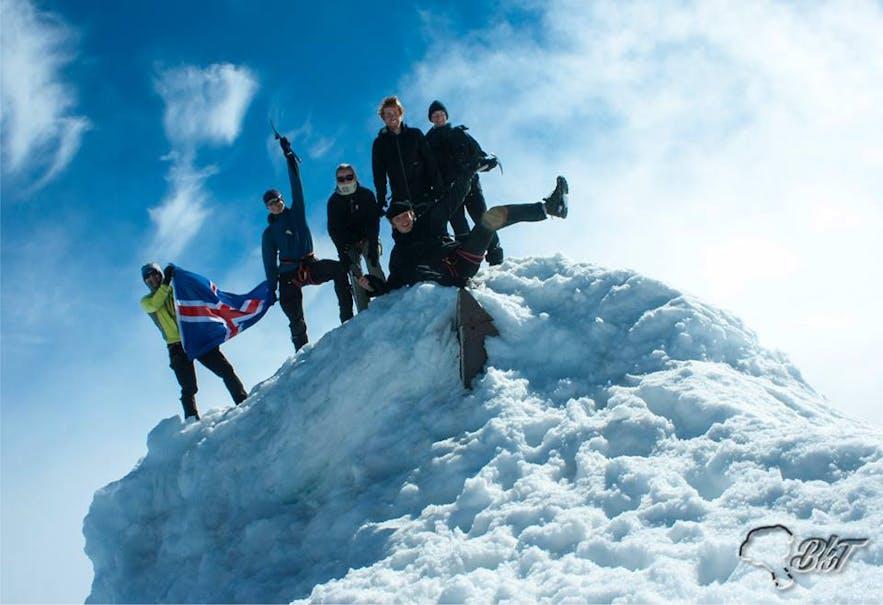 On the top of Eyjafjallajökull