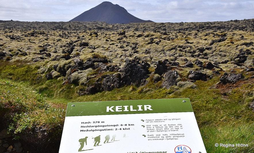 The hiking trail to Mt. Keilir Reykjanesskagi peninsula