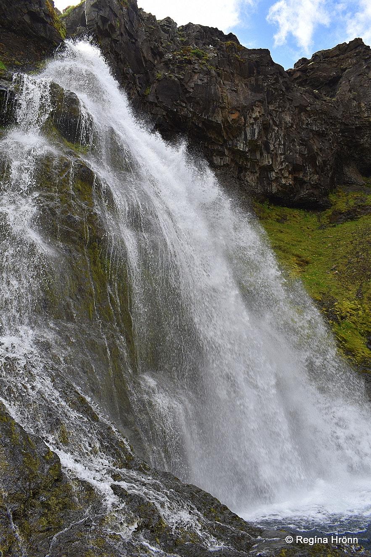 Kvernárfoss waterfall in Grundarfjörður Snæfellsnes