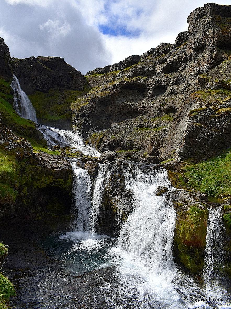 Kvernárgljúfur and Kvernárfoss waterfall in Grundarfjörður Snæfellsnes