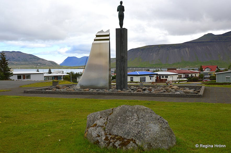 A dwarf rock in Grundarfjörður town