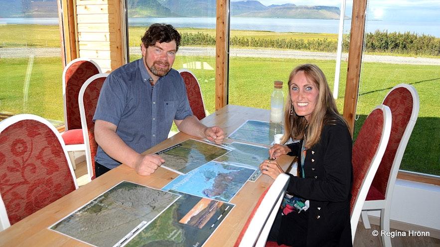 Regína with Marteinn at Suður-Bár Grundarfjörður