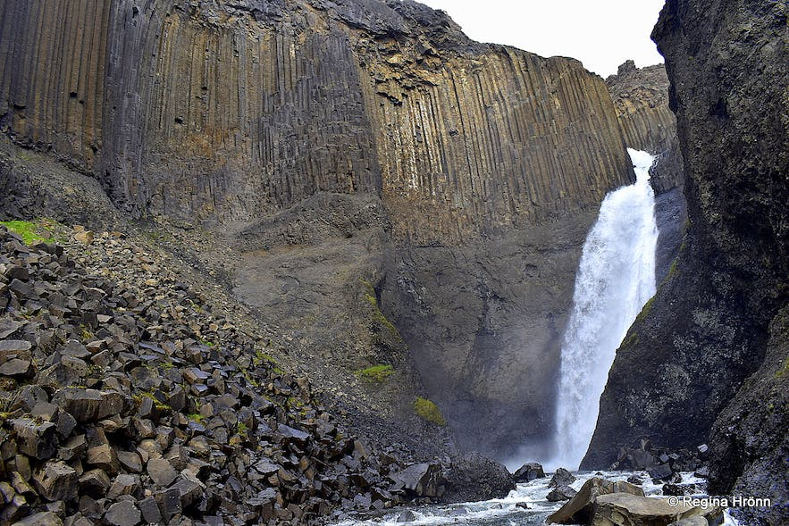 Litlanesfoss waterfall in East-Iceland