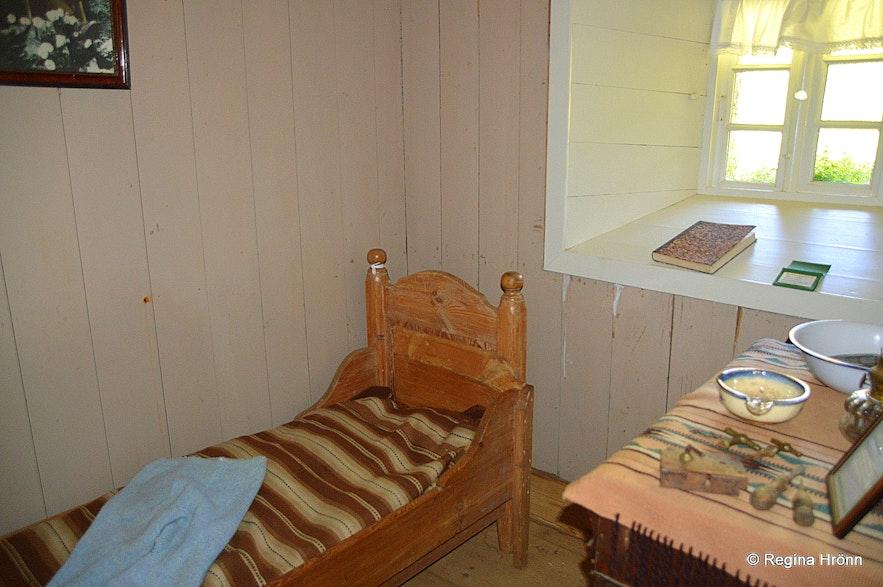 Inside Laufás turf house