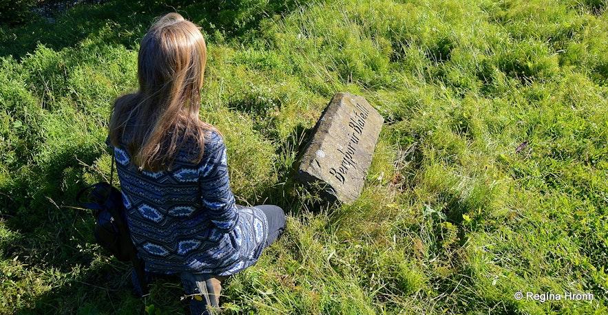 Haukadalskirkja grave stone of Bergþór