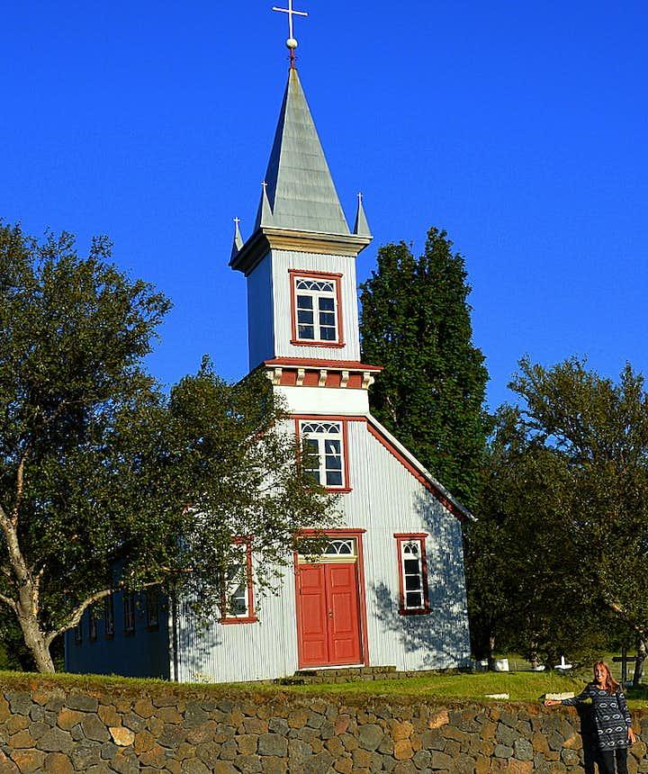 Regína by Hrunakirkja church in South-Iceland