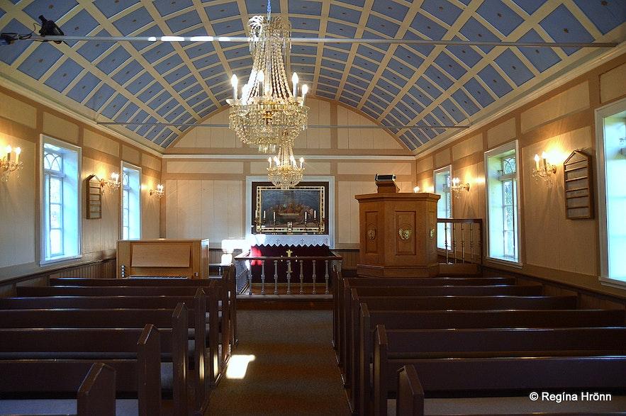 Hrunakirkja church - inside photo
