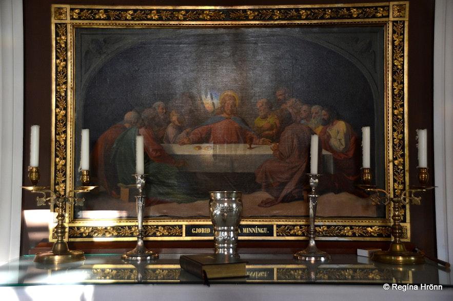Hrunakirkja church - the altarpiece