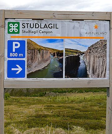 Stuðlagil canyon in East-Iceland