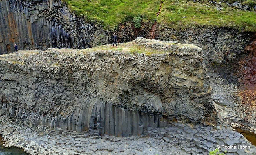 Stuðlagil basalt column canyon in East-Iceland