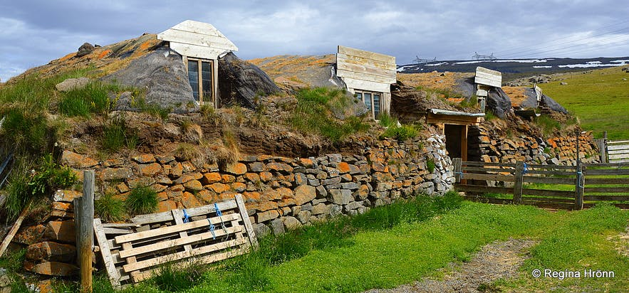 Langhús turf outhouses in East-Iceland