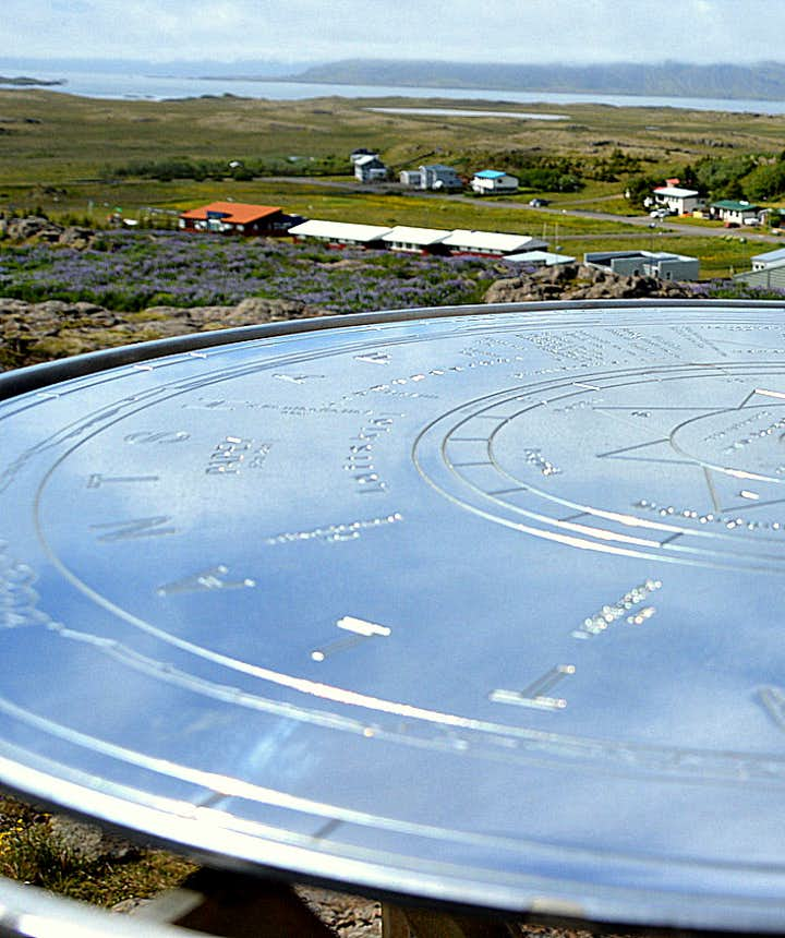 The view-dial at Bóndavarða in Djúpivogur