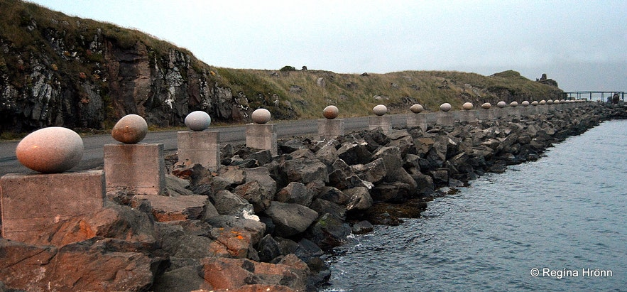 The eggs at Gleðivík bay in Djúpavogur