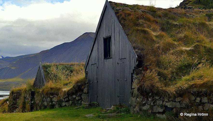 Hlíðartúnshúsin turf outhouses in Borgarnes, West-Iceland