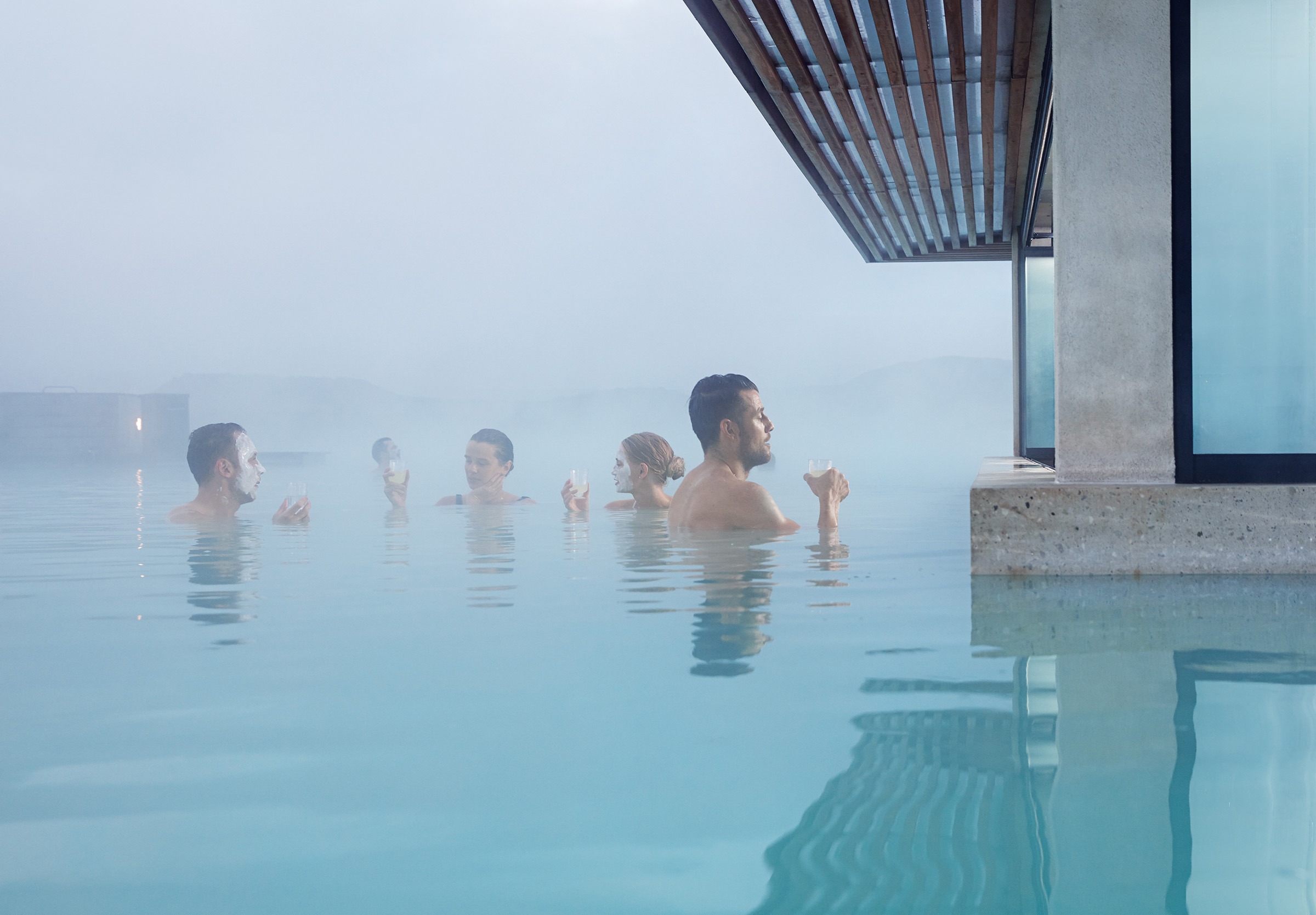 Guests at the Blue Lagoon can enjoy entry that includes a drink.