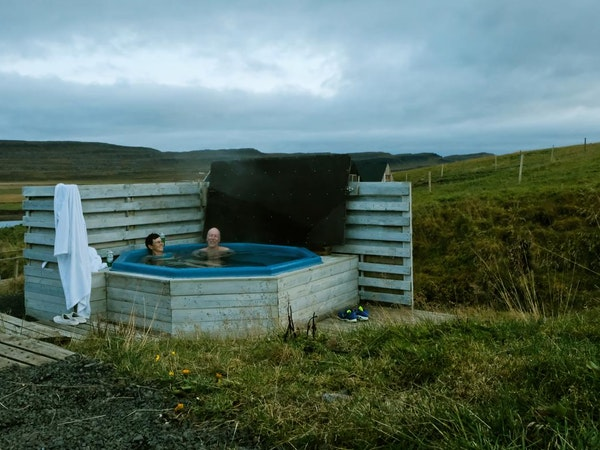 Hraunsnef hotel has a hot tub for the use of its guests.