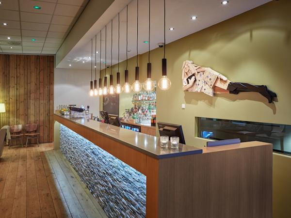 Icelandair Hotel Akureyri has the Aurora bar to relax at.