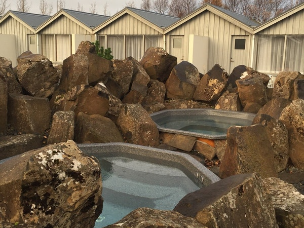Icelandair Hotel Fludir has several hot tubs to relax in.