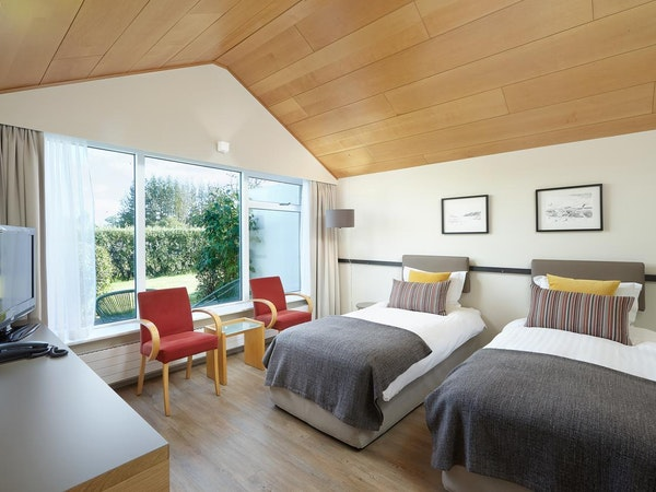 The Twin Guest Rooms at Icelandair Hotel Fludir are great for families and groups of friends.