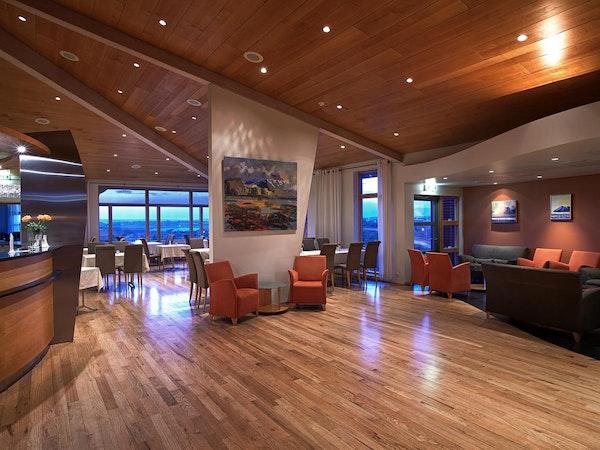 Icelandair Hotel Fludir has a chic bar and adjacent relaxation area.