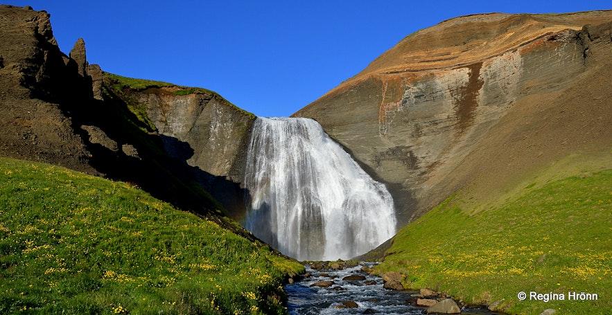 Skeifárfoss waterfall in North-Iceland