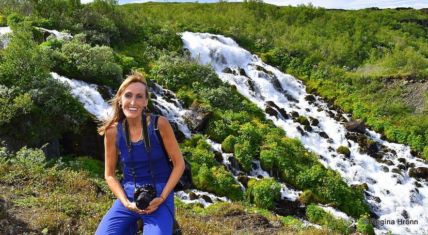 Hólmárfossar waterfalls in Jökulsárgljúfur canyon