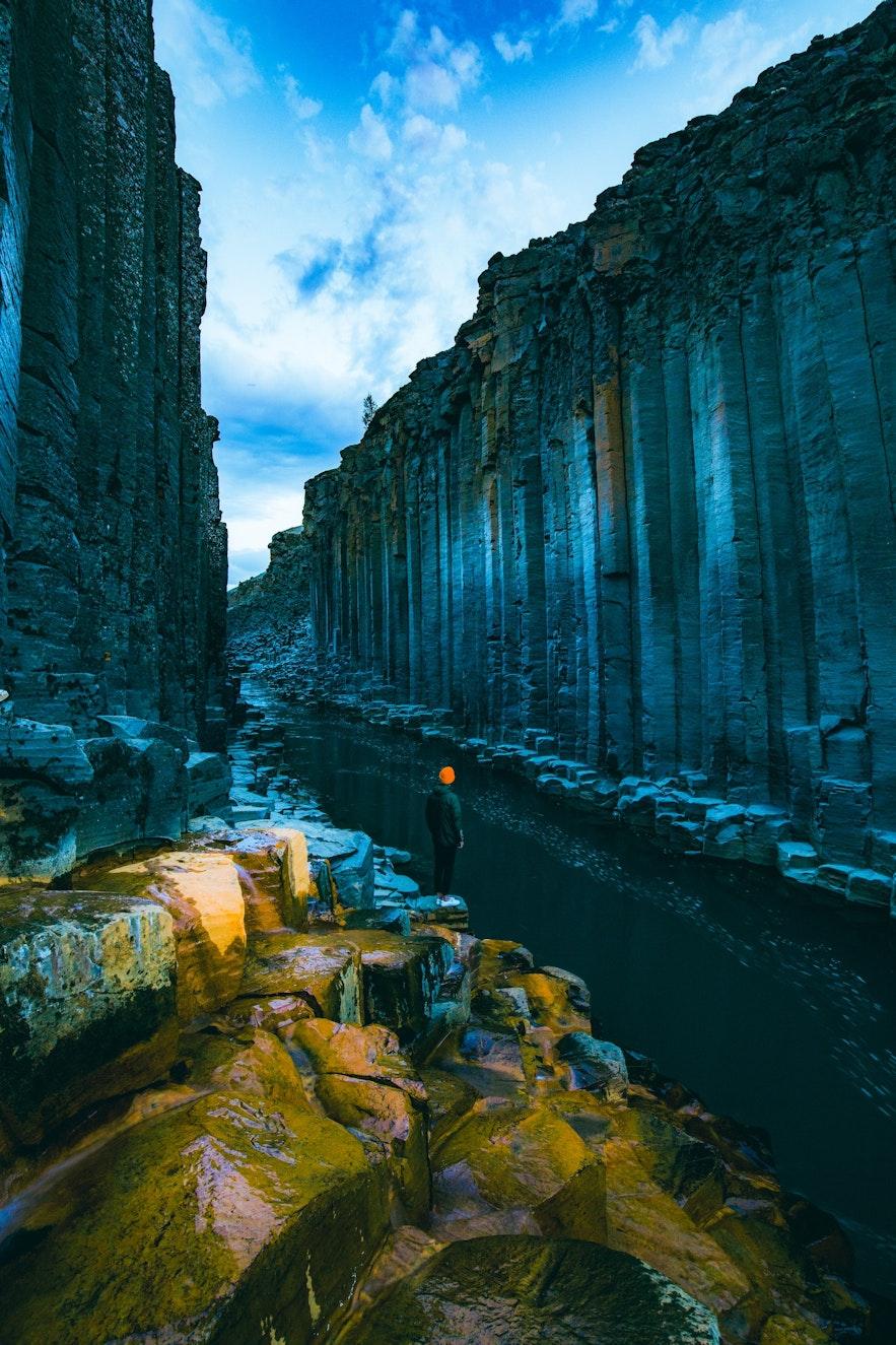 Stuðlagil Canyon in Summer