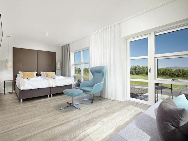 Icelandair Hotel Hamar has a range of large, richly furnished rooms.